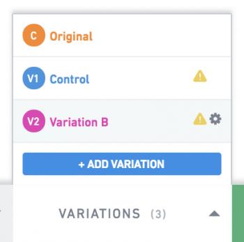 Convertica variations setup