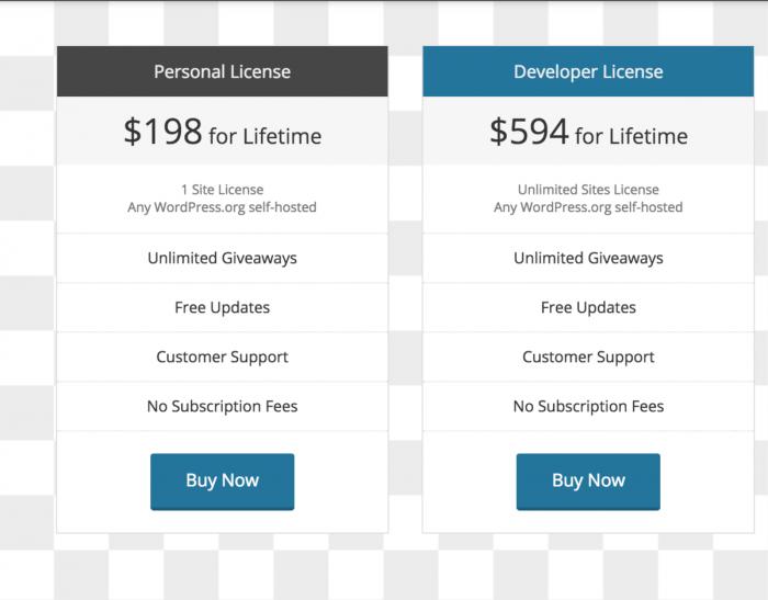 KingSumo Pricing Options