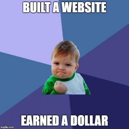 built a website earned a dollar