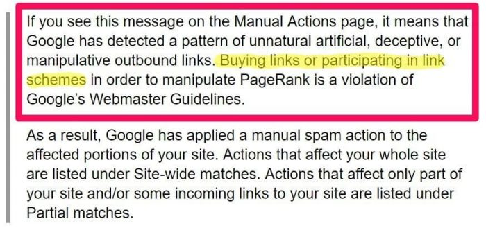 Google penalizes sites for unnatural outbound linking