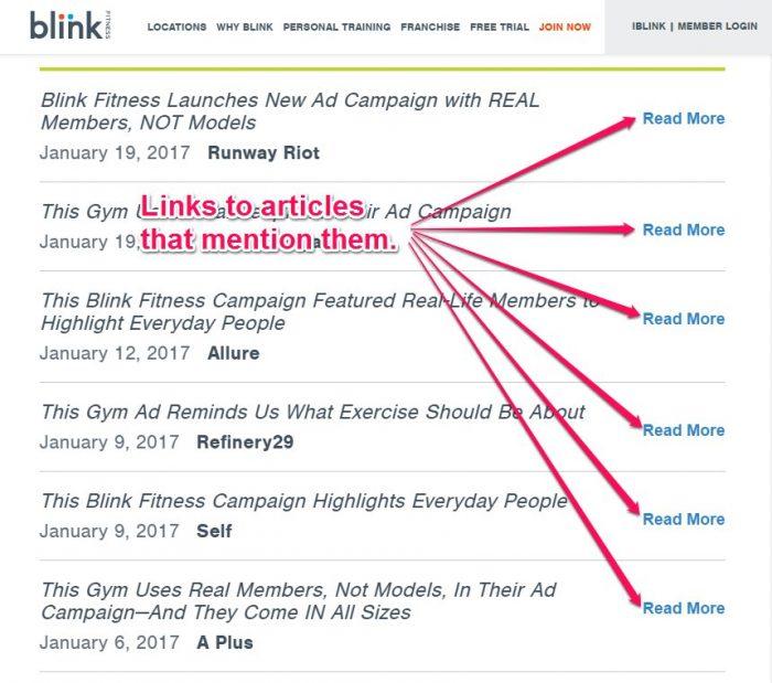 Blink Media Pages