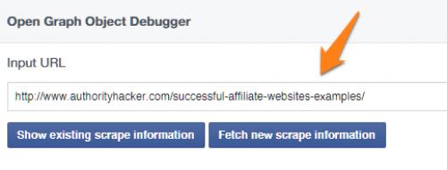 Facebook Debug tool
