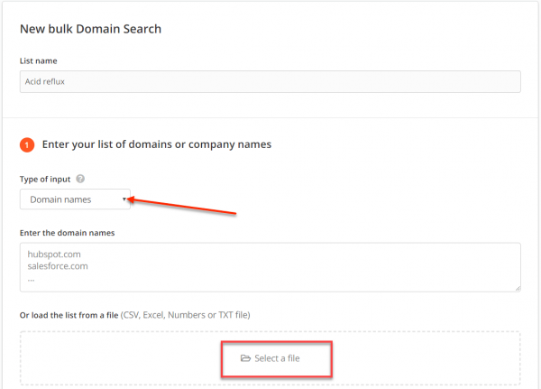 Hunter Bulk Domain Search