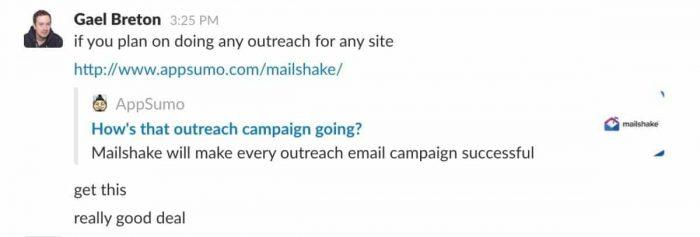 Gael Breton recommends Mailshake