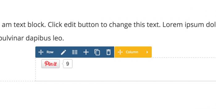 Visual Composer individual social button