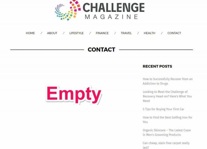 ChallengeMagazine.com contact page