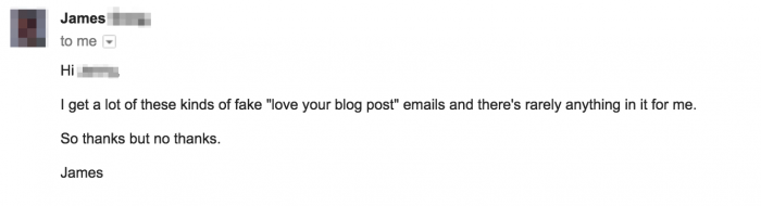 outreach email reply