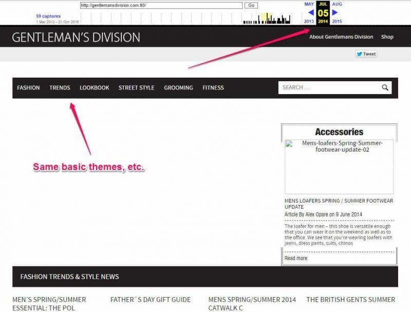 Gentleman's Division site archive