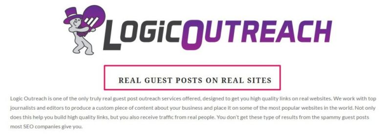 Logic Outreach Guest Post Offer