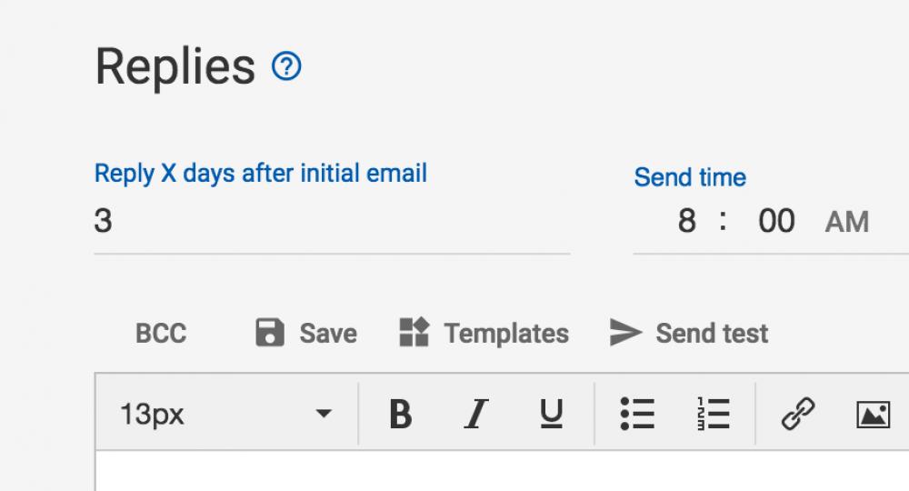 Mailshake follow ups