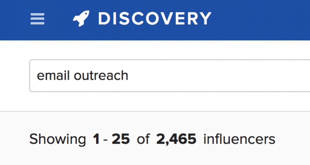 Buzzstream discovery
