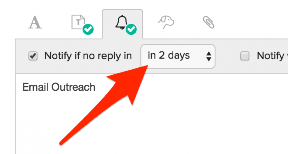 Buzzstream follow-up reminder