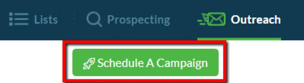 Ninja Outreach schedule a campaign
