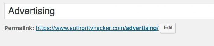 custom category page URL
