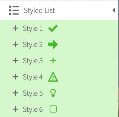 Thrive Styled List