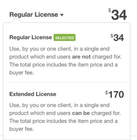 Visual Composer License Price